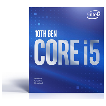 Product image of Intel Core i5 10400F 2.9GHz Comet Lake 6 Core 12 Thread LGA1200 - No iGPU Retail Box - Click for product page of Intel Core i5 10400F 2.9GHz Comet Lake 6 Core 12 Thread LGA1200 - No iGPU Retail Box