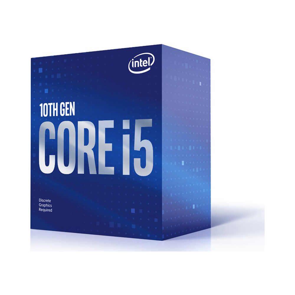 A large main feature product image of Intel Core i5 10400F 2.9GHz Comet Lake 6 Core 12 Thread LGA1200 - No iGPU Retail Box