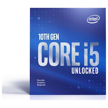 Product image of Intel Core i5 10600KF Comet Lake 6 Core 12 Thread Up To 4.8Ghz LGA1200 - No HSF/No iGPU Retail Box - Click for product page of Intel Core i5 10600KF Comet Lake 6 Core 12 Thread Up To 4.8Ghz LGA1200 - No HSF/No iGPU Retail Box