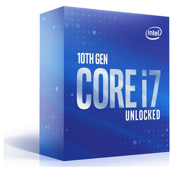 Product image of Intel Core i7 10700K 3.8GHz Comet Lake 8 Core 16 Thread LGA1200 - No HSF Retail Box - Click for product page of Intel Core i7 10700K 3.8GHz Comet Lake 8 Core 16 Thread LGA1200 - No HSF Retail Box