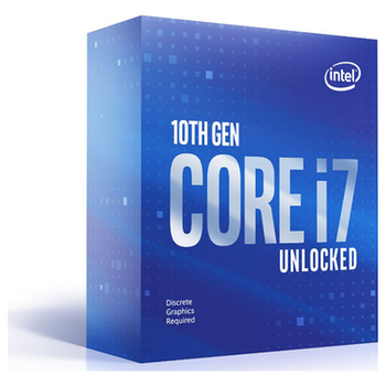 Product image of Intel Core i7 10700KF 3.8GHz Comet Lake 8 Core 16 Thread LGA1200 - No HSF/No iGPU Retail Box - Click for product page of Intel Core i7 10700KF 3.8GHz Comet Lake 8 Core 16 Thread LGA1200 - No HSF/No iGPU Retail Box