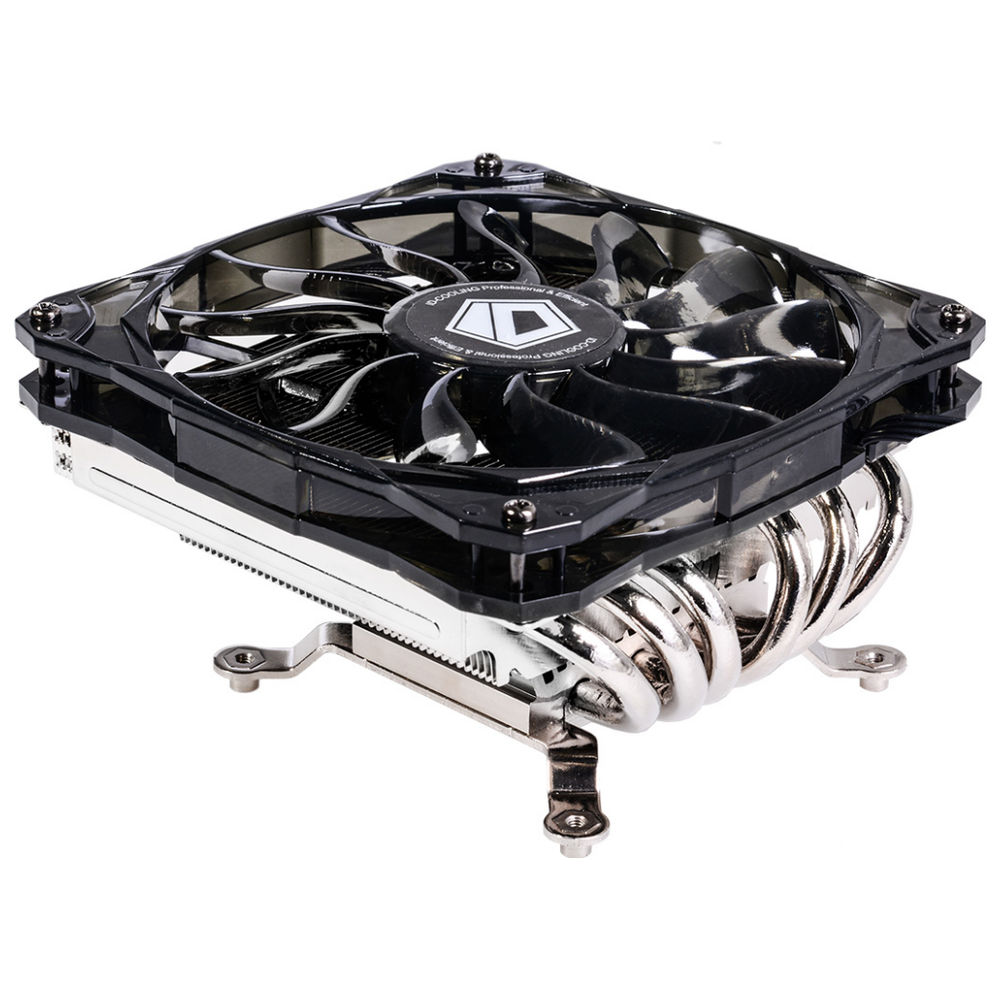 A large main feature product image of ID-COOLING Iceland Series IS-60 Low Profile CPU Cooler