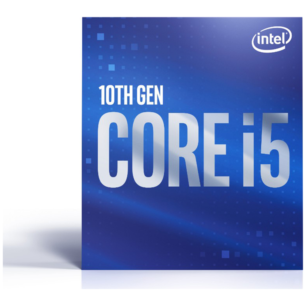 A large main feature product image of Intel Core i5 10500 Comet Lake 6 Core 12 Thread Up To 4.5Ghz LGA1200 - Retail Box