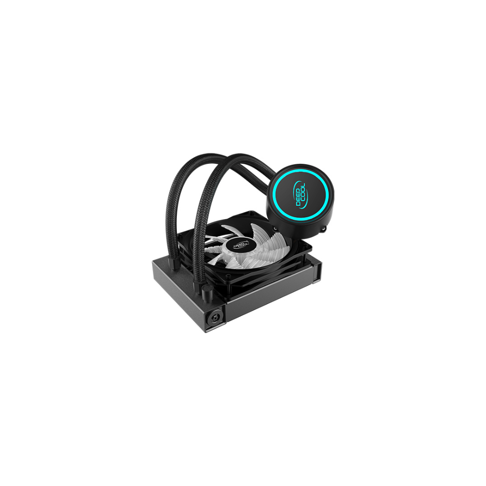 A large main feature product image of Deepcool GAMMAXX L120 V2 RGB AIO Liquid CPU Cooler