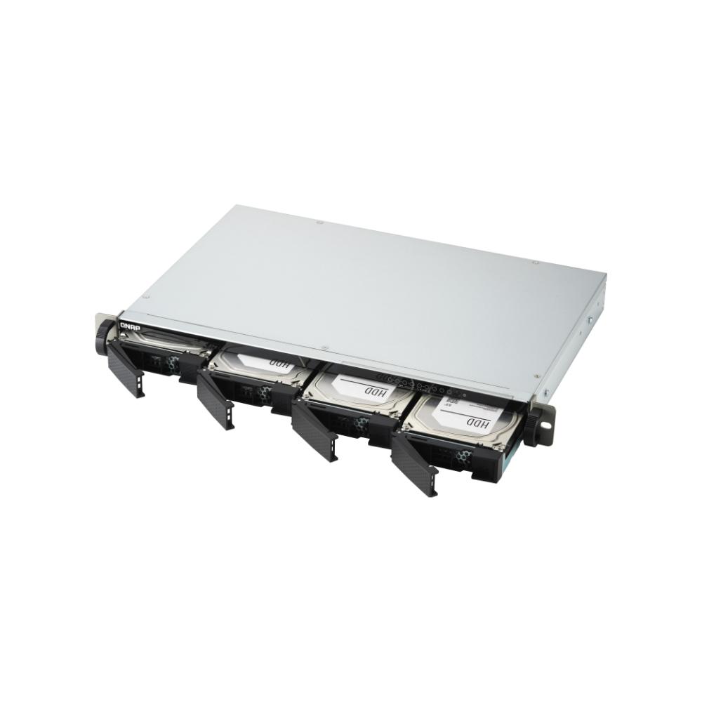 A large main feature product image of QNAP TS-451DeU 2.0Ghz 2GB 4 Bay Rackmount NAS Enclosure