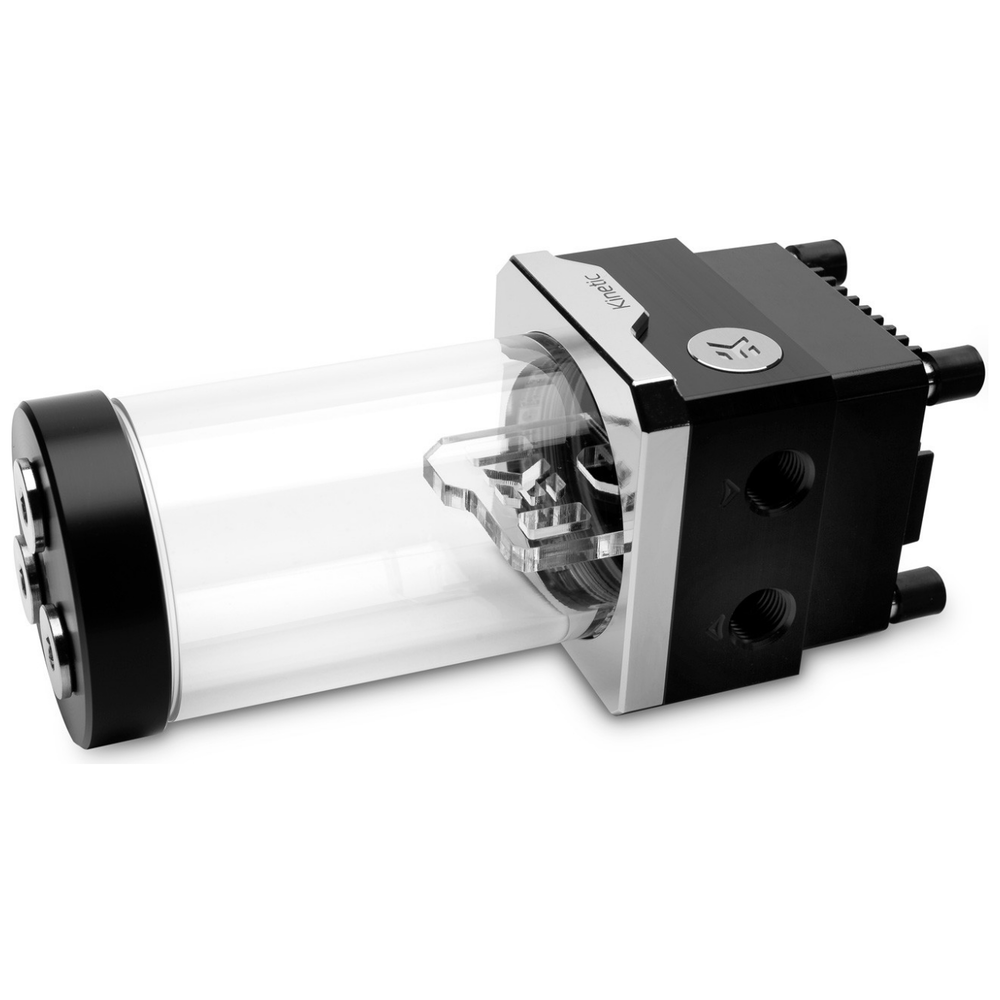 A large main feature product image of EK Quantum Kinetic TBE D-RGB PWM 160 Reservoir - Acetal