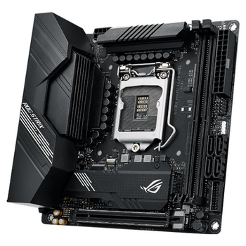 Product image of ASUS ROG Strix H470-I Gaming LGA1200 mITX Desktop Motherboard - Click for product page of ASUS ROG Strix H470-I Gaming LGA1200 mITX Desktop Motherboard
