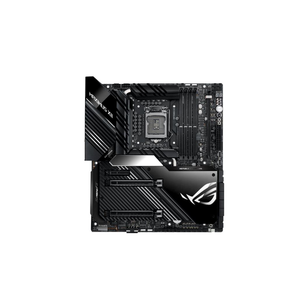 A large main feature product image of ASUS ROG Maximus XII Extreme LGA1200 ATX Desktop Motherboard