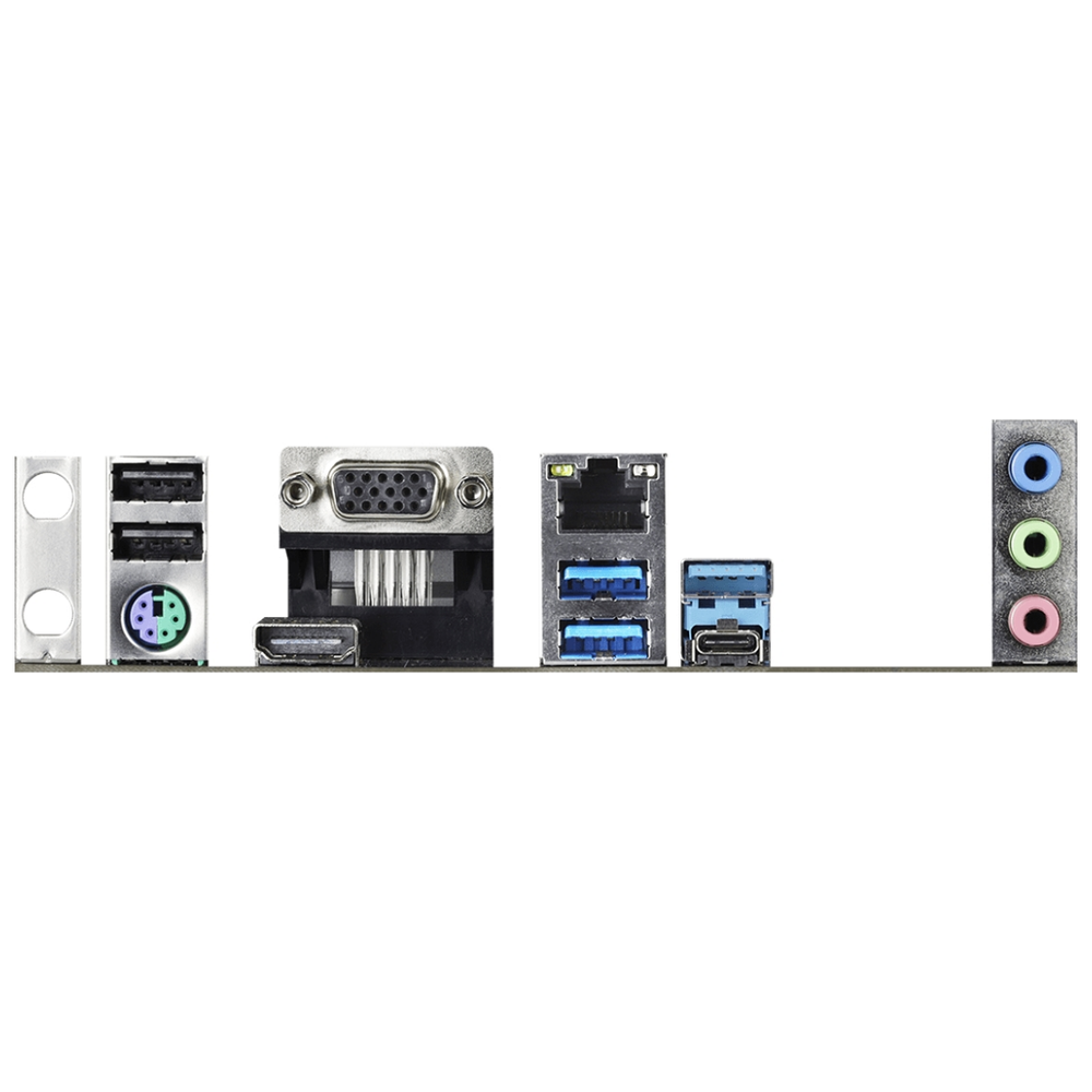 A large main feature product image of ASRock B460 Pro4 LGA1200 ATX Desktop Motherboard