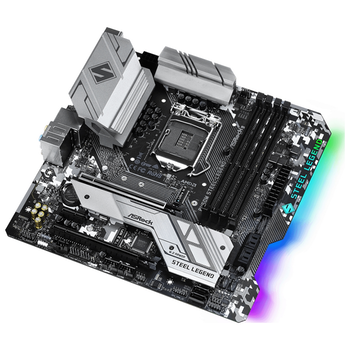 Product image of ASRock B460M Steel Legend LGA1200 mATX Desktop Motherboard - Click for product page of ASRock B460M Steel Legend LGA1200 mATX Desktop Motherboard