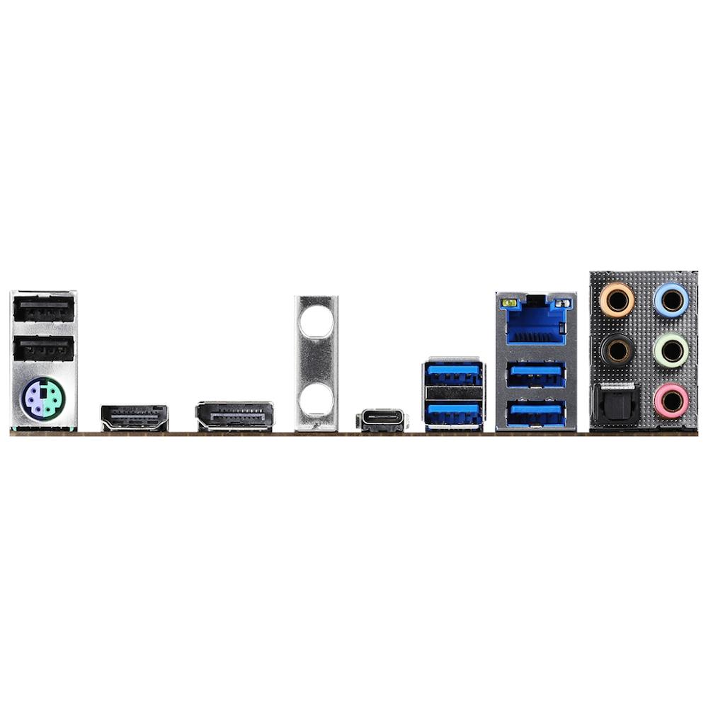 A large main feature product image of ASRock B460M Steel Legend LGA1200 mATX Desktop Motherboard