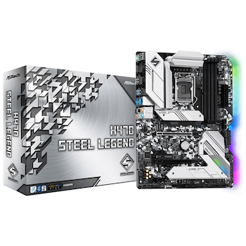 Product image of ASRock H470 Steel Legend LGA1200 ATX Desktop Motherboard - Click for product page of ASRock H470 Steel Legend LGA1200 ATX Desktop Motherboard