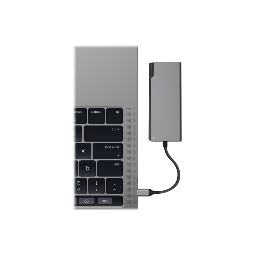 A large main feature product image of ALOGIC Ultra USB Type-C Universal Dock w/Power Delivery - Space Grey