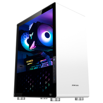 Product image of Jonsbo U4 White ATX case w/Tempered Glass Side Panel - Click for product page of Jonsbo U4 White ATX case w/Tempered Glass Side Panel