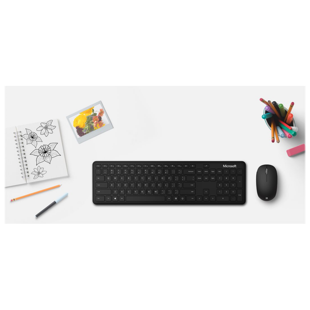 A large main feature product image of Microsoft Bluetooth Desktop Keyboard & Mouse Kit