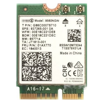 Product image of Intel 9560 802.11ac & Bluetooth Dual-Band Wireless M.2 Adapter - Click for product page of Intel 9560 802.11ac & Bluetooth Dual-Band Wireless M.2 Adapter
