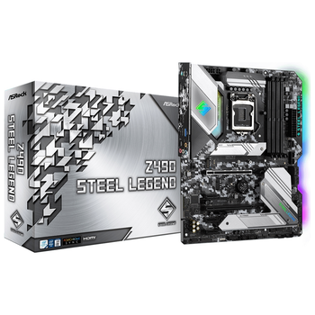 Product image of ASRock Z490 Steel Legend LGA1200 ATX Desktop Motherboard - Click for product page of ASRock Z490 Steel Legend LGA1200 ATX Desktop Motherboard