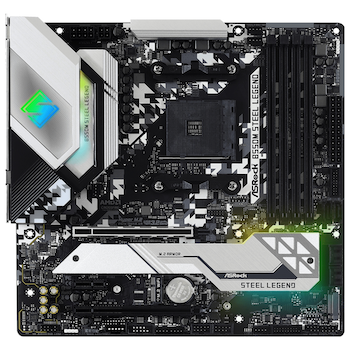 Product image of ASRock B550M Steel Legend AM4 mATX Desktop Motherboard - Click for product page of ASRock B550M Steel Legend AM4 mATX Desktop Motherboard