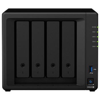 Product image of Synology DiskStation DS920+ Celeron 4GB 4 Bay NAS Enclosure - Click for product page of Synology DiskStation DS920+ Celeron 4GB 4 Bay NAS Enclosure