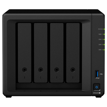 Product image of Synology DiskStation DS420+ Celeron 2GB 4 Bay NAS Enclosure - Click for product page of Synology DiskStation DS420+ Celeron 2GB 4 Bay NAS Enclosure