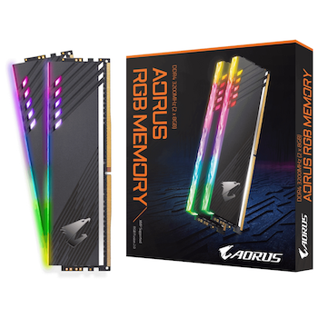 Product image of Gigabyte 16GB Kit (2x8GB) DDR4 Aorus RGB C16 3200Mhz - Click for product page of Gigabyte 16GB Kit (2x8GB) DDR4 Aorus RGB C16 3200Mhz
