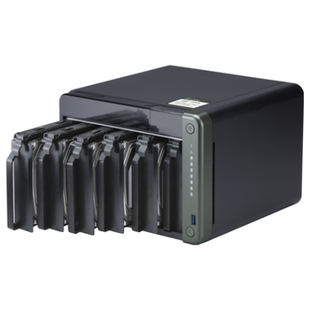 Product image of QNAP TS-653D 2.0Ghz 4GB 6 Bay NAS Enclosure - Click for product page of QNAP TS-653D 2.0Ghz 4GB 6 Bay NAS Enclosure