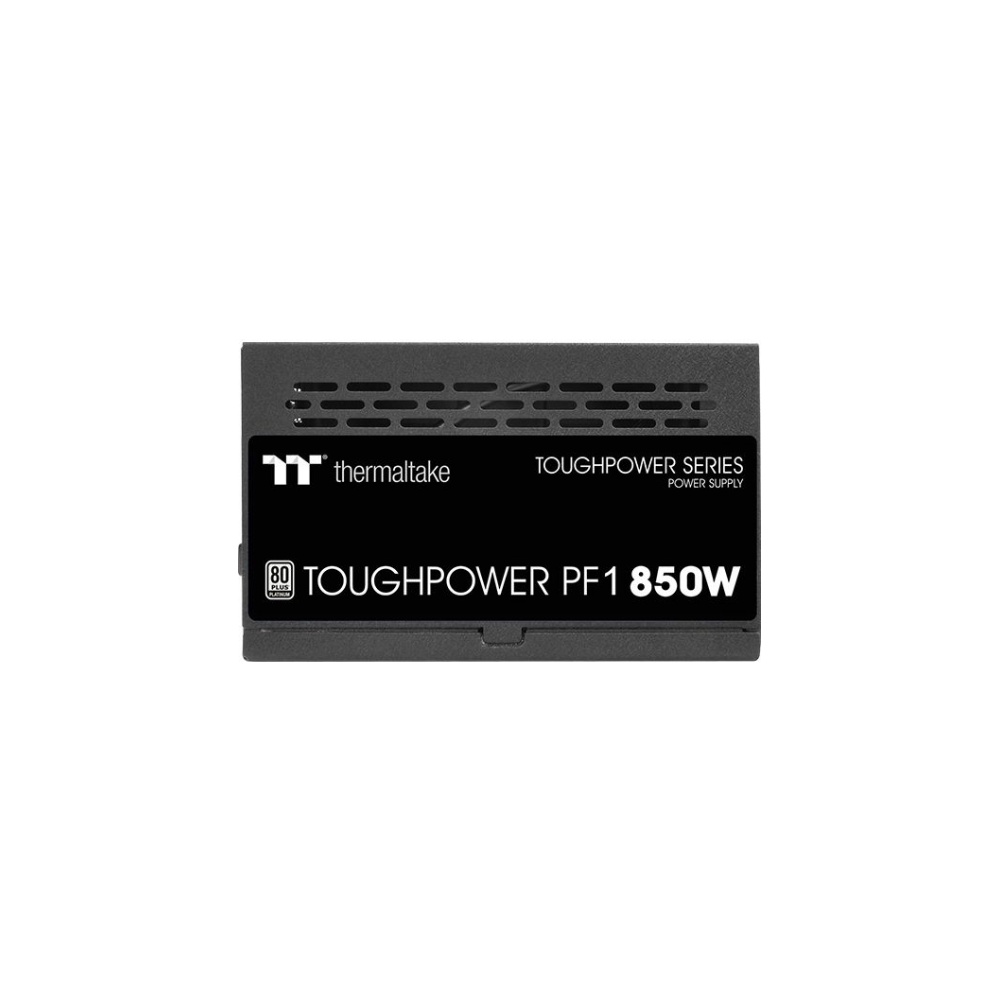 A large main feature product image of Thermaltake Toughpower PF1 850W 80Plus Platinum Fully Modular Power Supply