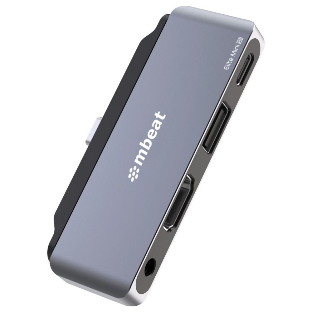 A large main feature product image of mBeat Elite Mini 4-in-1 USB-C Mobile Hub For IPad Pro