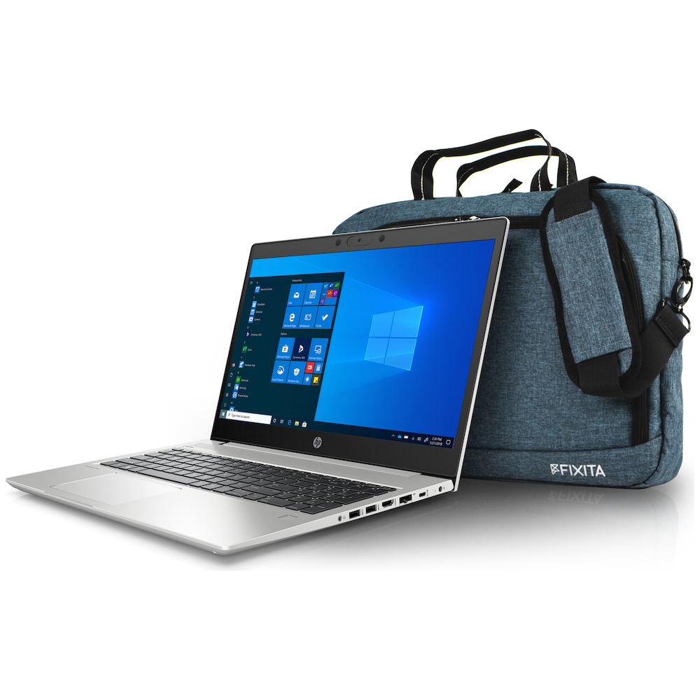 A large main feature product image of HP Notebooks & Fixita Giveaway Promotion