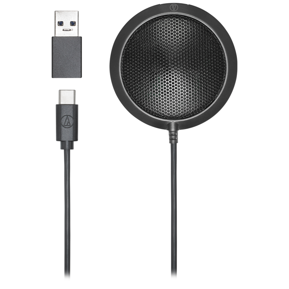 A large main feature product image of Audio Technica ATR4697-USB Omnidirectional Condensor Boundary Microphone