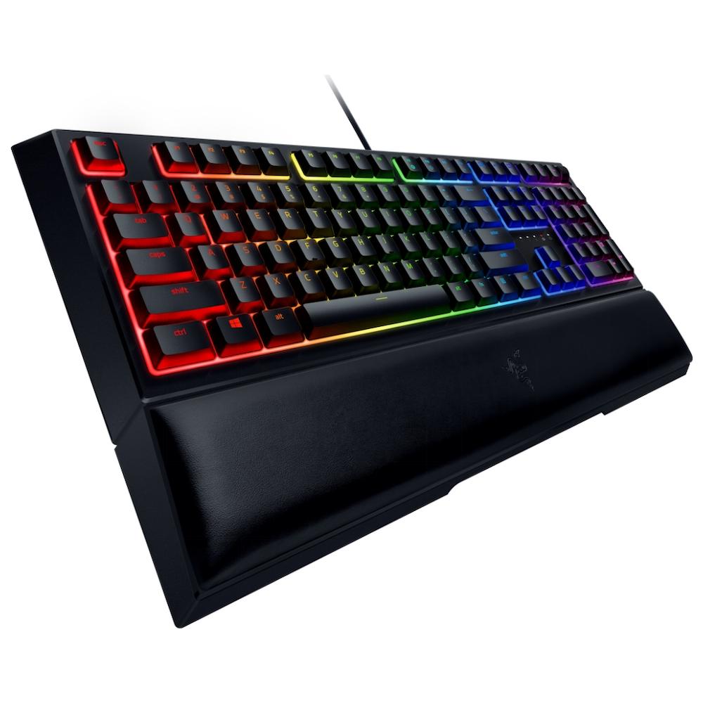 A large main feature product image of Razer Ornata Mecha-Membrane RGB Gaming Keyboard