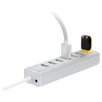 Product image of EX-DEMO ALOGIC Plus 7 Port USB Hub w/Power Adapter - Silver - Click for product page of EX-DEMO ALOGIC Plus 7 Port USB Hub w/Power Adapter - Silver
