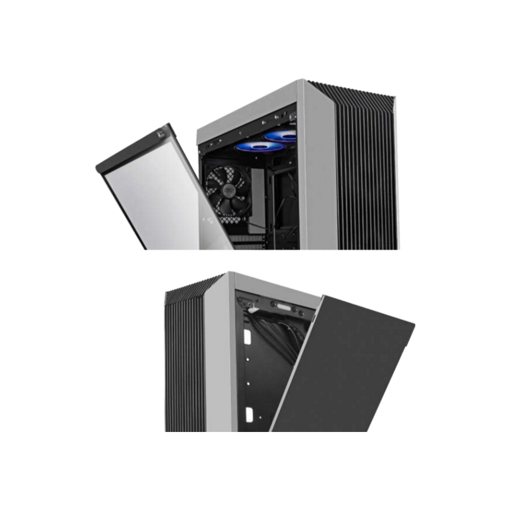 A large main feature product image of DeepCool CL500 Mid Tower Case w/ Tempered Glass Side Panel