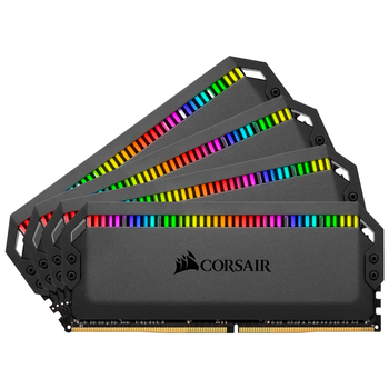 Product image of EX-DEMO Corsair 32GB Kit (4x8GB) DDR4 Dominator Platinum RGB C16 3200Mhz - Click for product page of EX-DEMO Corsair 32GB Kit (4x8GB) DDR4 Dominator Platinum RGB C16 3200Mhz
