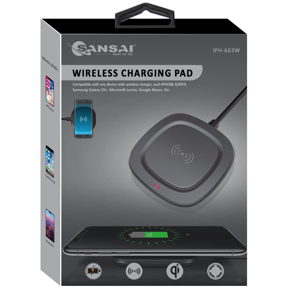 A large main feature product image of Sansai Wireless Charging Pad