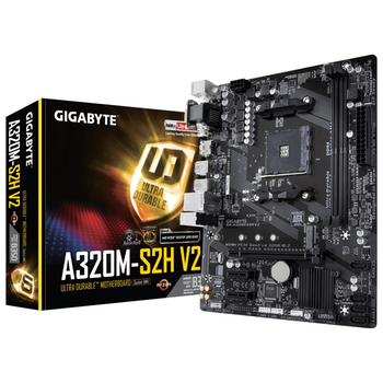 Product image of Gigabyte A320M-S2H V2 AM4 mATX Desktop Motherboard - Click for product page of Gigabyte A320M-S2H V2 AM4 mATX Desktop Motherboard
