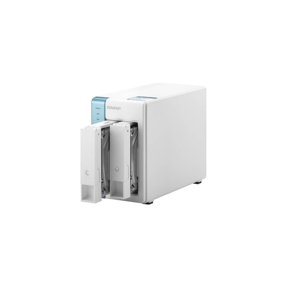A large main feature product image of QNAP TS-231P3 1.7Ghz 2GB 2 Bay NAS Enclosure
