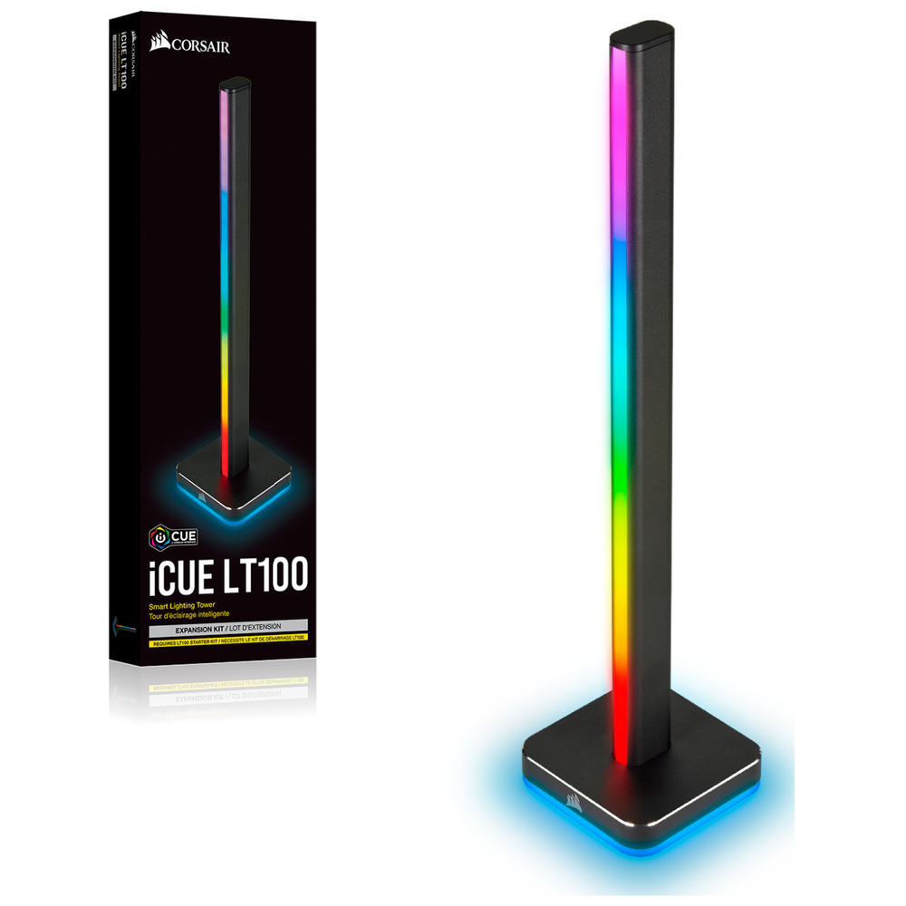 A large main feature product image of Corsair LT100 Smart Lighting Tower - Expansion Kit