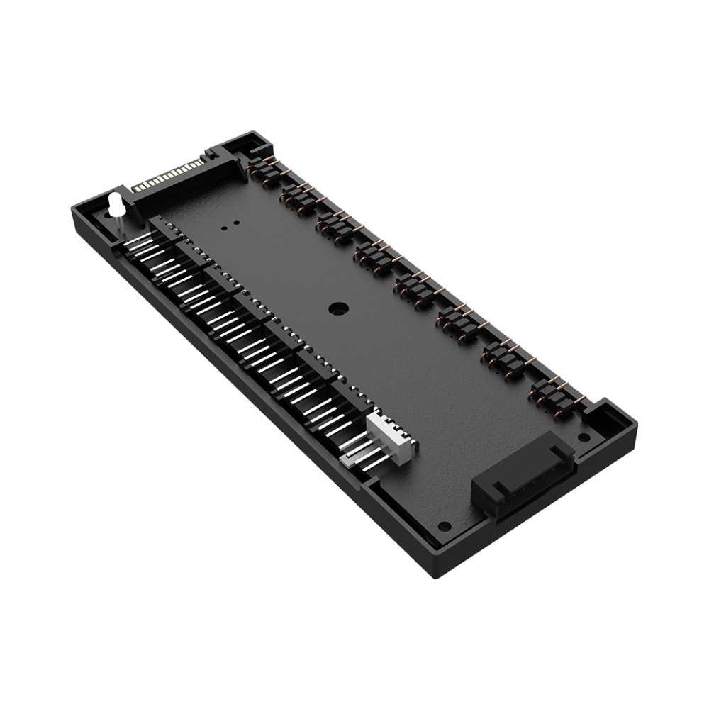 A large main feature product image of ID-COOLING HA-02 Addressable RGB PWM Fan Hub