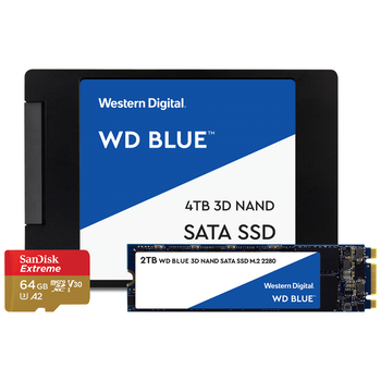 Product image of Western Digital & Sandisk Blue Giveaway Bundle - Click for product page of Western Digital & Sandisk Blue Giveaway Bundle