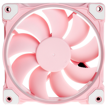 Product image of ID-COOLING Pastel Series ZF-12025 Piglet Pink PWM 120mm White LED Fan - Click for product page of ID-COOLING Pastel Series ZF-12025 Piglet Pink PWM 120mm White LED Fan