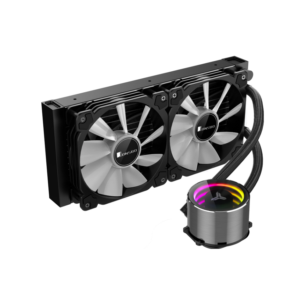 A large main feature product image of Jonsbo Shadow 240mm ARGB LED AIO CPU Liquid Cooler