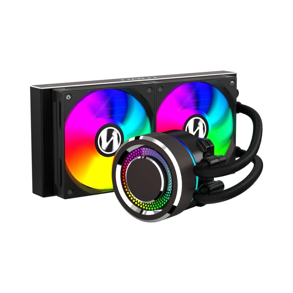 A large main feature product image of Lian-Li Galahad 240mm Black ARGB AIO Liquid CPU Cooler