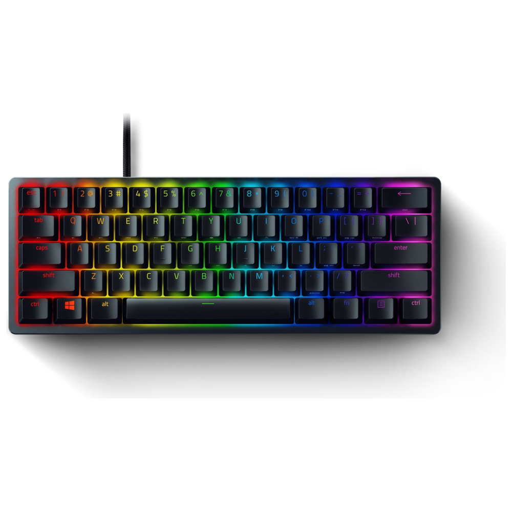 A large main feature product image of Razer Huntsman Mini Opto-Mechanical Switch Chroma Gaming Keyboard - Linear