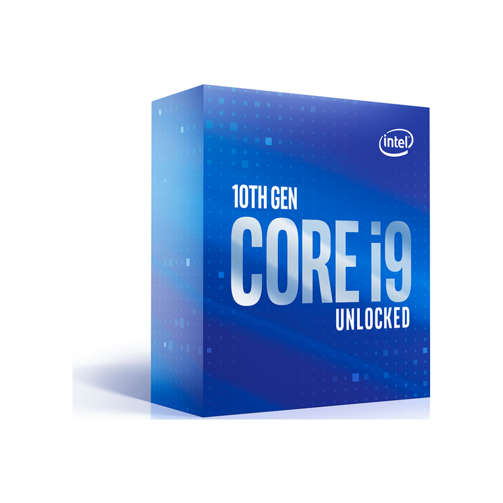 A large main feature product image of Intel Core i9 10850K 3.6Ghz Comet Lake 10 Core 20 Thread LGA1200 - No HSF Retail Box