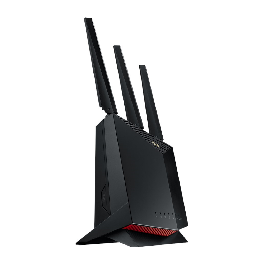 A large main feature product image of ASUS RT-AX86U 802.11ax Dual-Band AiMesh Wireless-AX5700 Gigabit Router