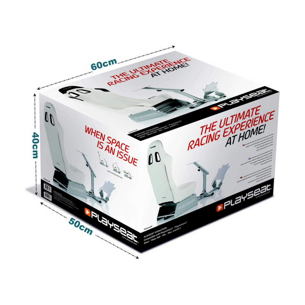 A large main feature product image of Playseat Evolution Driving Simulator - White