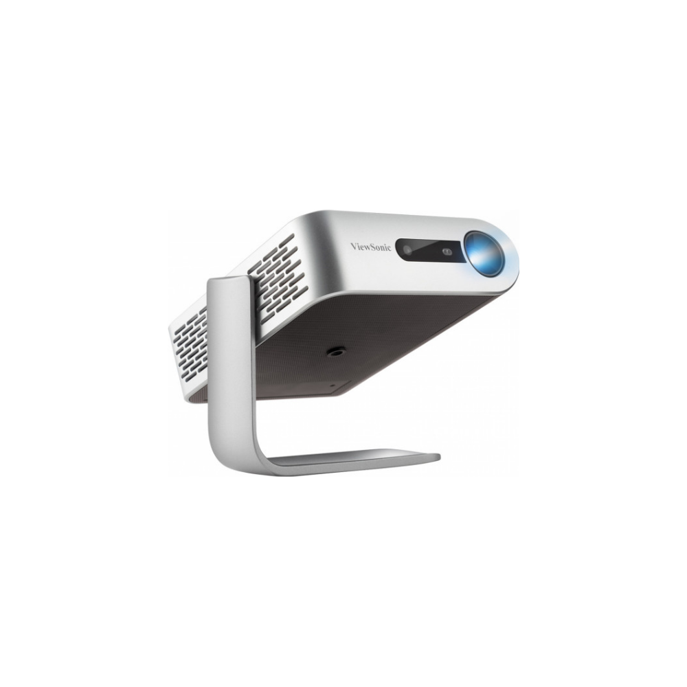 A large main feature product image of Viewsonic M1+ LED Portable Wireless Projector