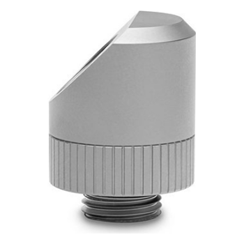 Product image of EK Quantum Torque Rotary 45° Fitting - Satin Titanium - Click for product page of EK Quantum Torque Rotary 45° Fitting - Satin Titanium
