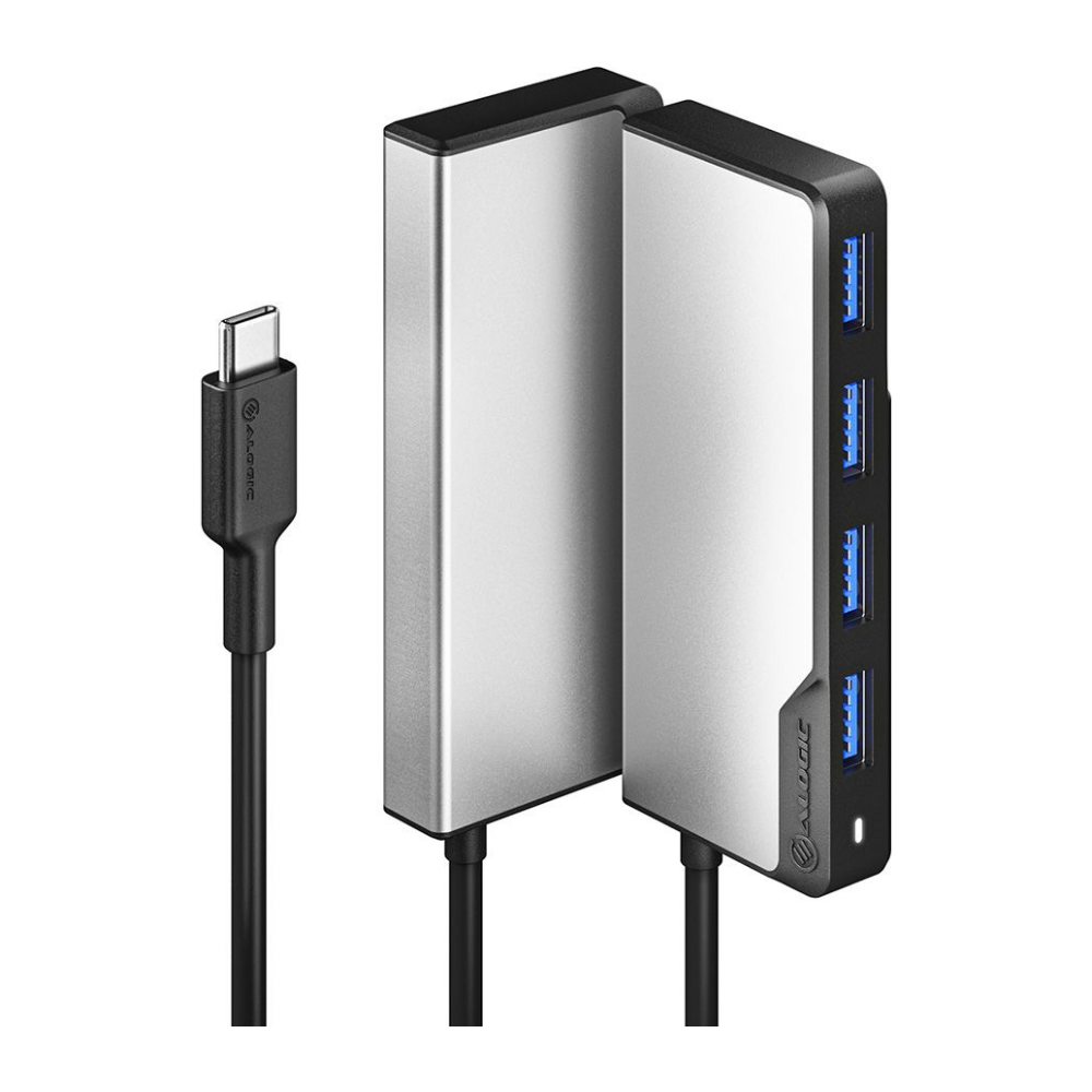 A large main feature product image of ALOGIC  USB-C Fusion SWIFT 4-in-1 Hub